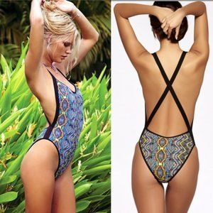 L*SPACE Ixtapa Maniac High-Cut One-Piece Swimsuit